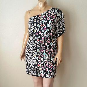 Nicole Miller Black Multi Color Dress